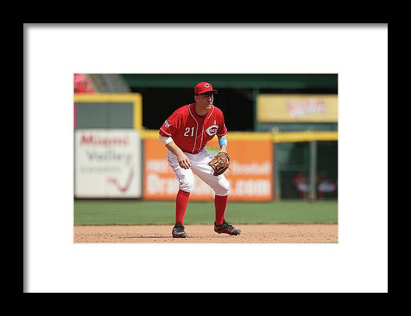 Great American Ball Park Framed Print featuring the photograph Miami Marlins V Cincinnati Reds by Andy Lyons
