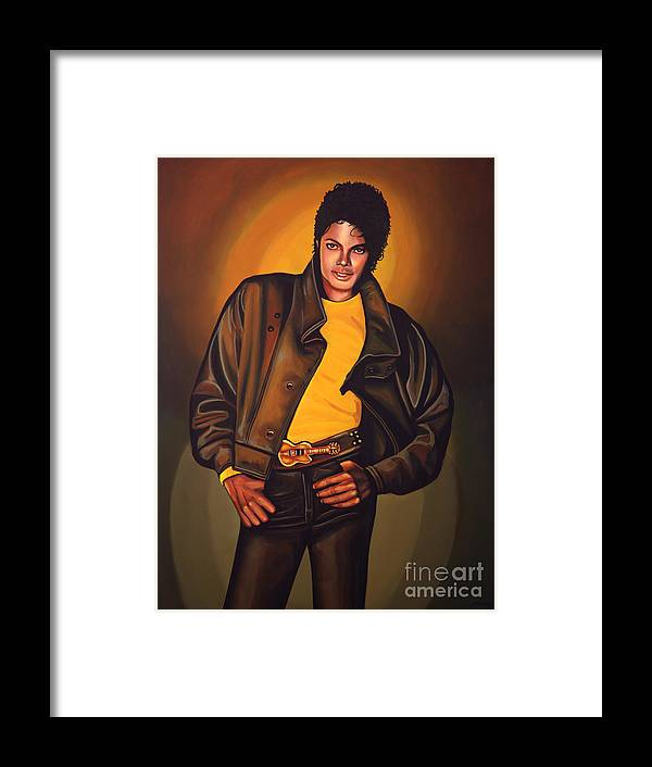 Michael Jackson Framed Print featuring the painting Michael Jackson by Paul Meijering