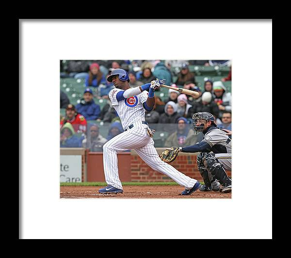 National League Baseball Framed Print featuring the photograph Milwaukee Brewers V Chicago Cubs by Jonathan Daniel