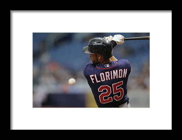 American League Baseball Framed Print featuring the photograph Minnesota Twins V Tampa Bay Rays by Scott Iskowitz