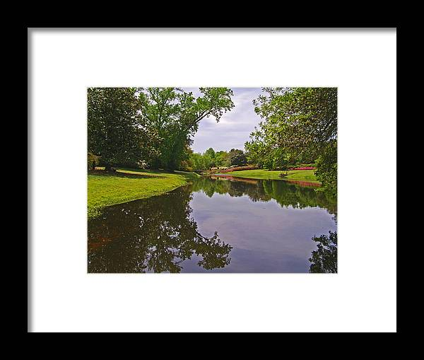 Photograph Framed Print featuring the photograph Mirror Lake Reflections 1 by Marian Bell