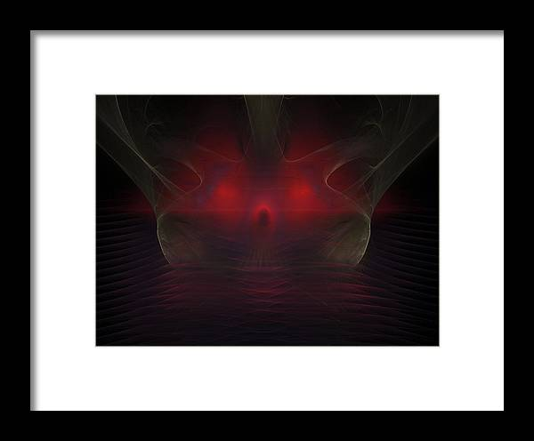 Fractal Framed Print featuring the painting Misty Sunset by Bruce Nutting