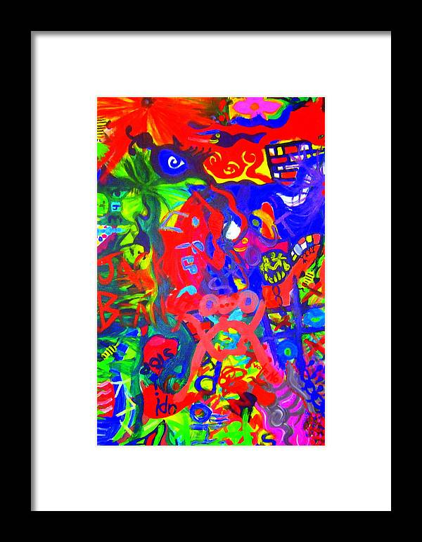 Art Framed Print featuring the painting Modern Abstract Painting Original Canvas Art Young Life By Zee Clark by Zee Clark