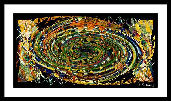 Rd Erickson Framed Print featuring the digital art Modern Art I by rd Erickson
