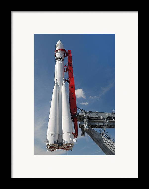 Russia Framed Print featuring the photograph Monument Of Space Rocket by Mikhail Olykaynen