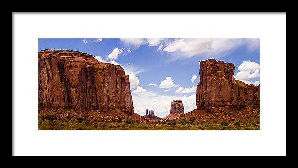 Landscape Framed Print featuring the photograph Monument Valley - Arizona by Jon Berghoff
