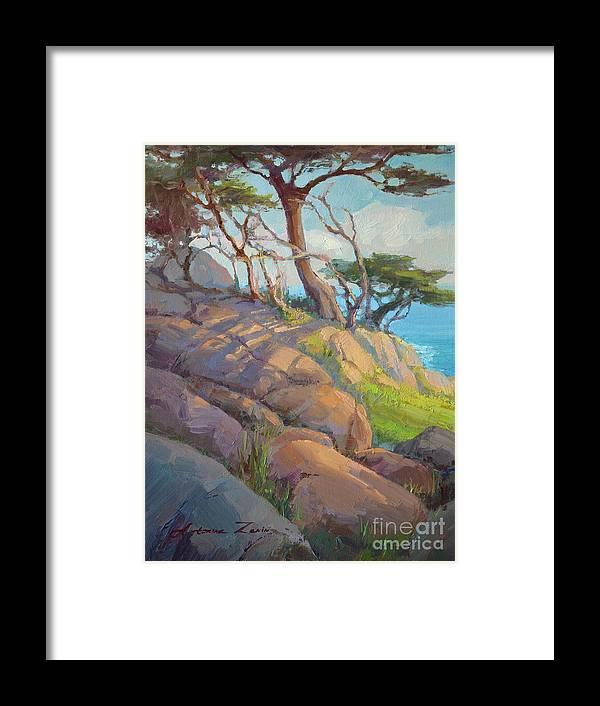Carmel Framed Print featuring the painting Morning Light At Point Lobos by Tonya Zenin