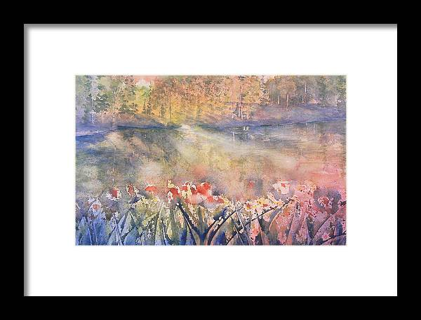 Framed Print featuring the painting Morning Walk by Mary Levingston