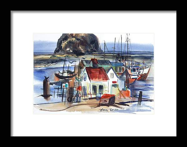 Framed Print featuring the painting Morro Bay by Hazel Stitt