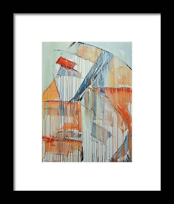 Abstract Framed Print featuring the painting Movement And Color Study 1 by Shawn Hiser