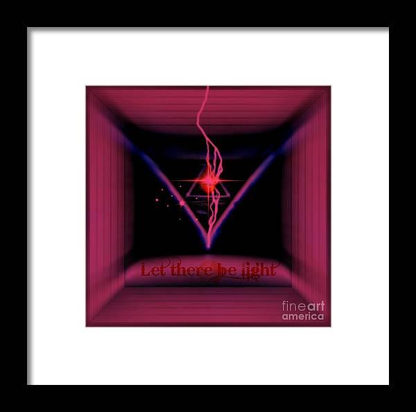 Infinity Framed Print featuring the digital art Mustic by Meiers Daniel