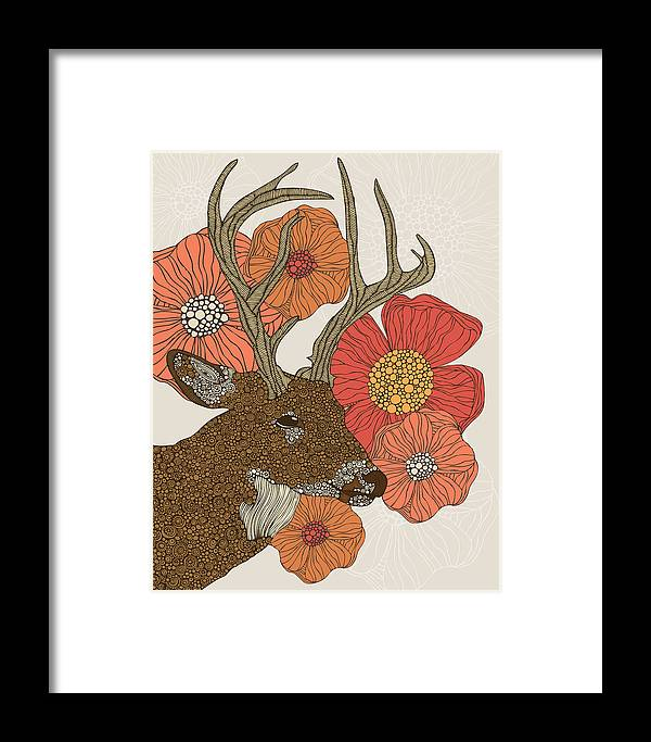 Illustration Framed Print featuring the photograph My Dear Deer by Valentina Ramos