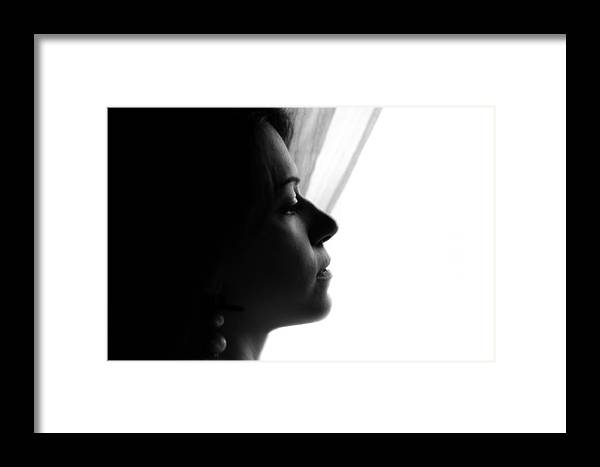 Portrait Photographs Framed Print featuring the photograph Nancy by Andrea Mazzocchetti
