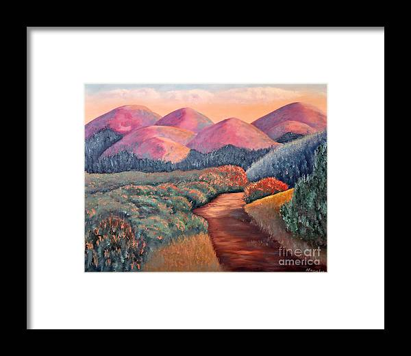 Landscape Framed Print featuring the painting Natures Path by Barney Napolske