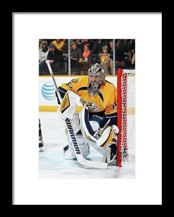 People Framed Print featuring the photograph New Jersey Devils V Nashville Predators by John Russell