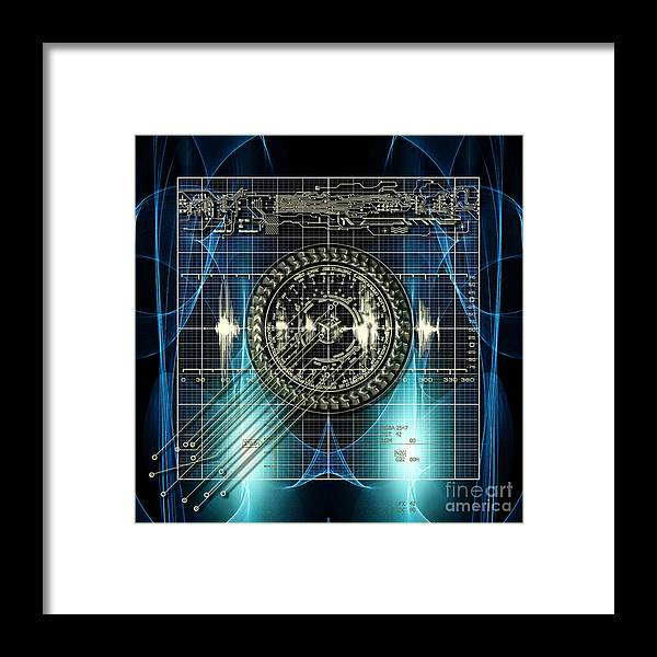 Measuring Framed Print featuring the mixed media New Time Calculation by Diuno Ashlee