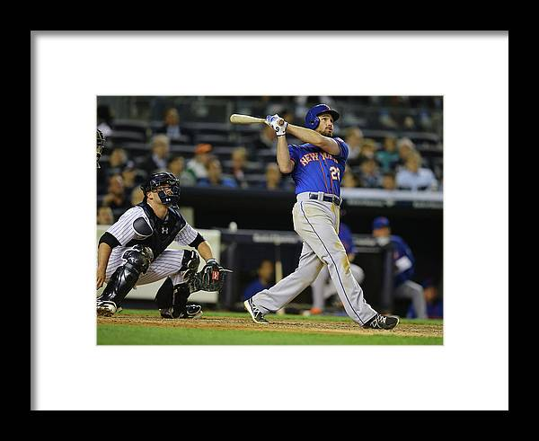 American League Baseball Framed Print featuring the photograph New York Mets V New York Yankees 1 by Al Bello
