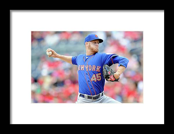 Second Inning Framed Print featuring the photograph New York Mets V Washington Nationals by Greg Fiume
