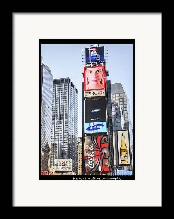 New York Framed Print featuring the photograph New York New York by B Wayne Mullins