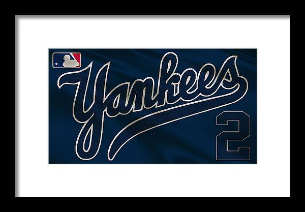 Yankees Framed Print featuring the photograph New York Yankees Derek Jeter by Joe Hamilton