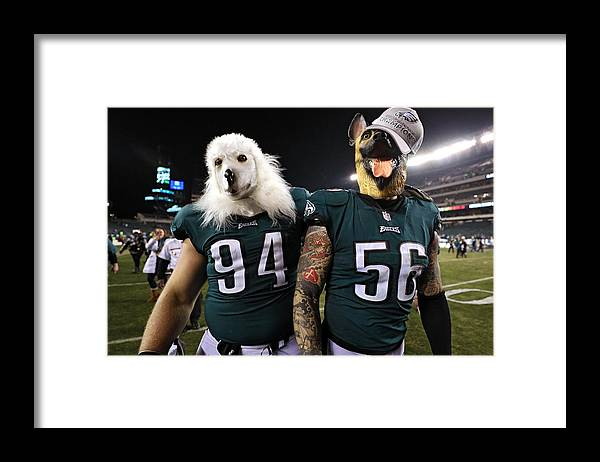 Playoffs Framed Print featuring the photograph NFC Championship - Minnesota Vikings v Philadelphia Eagles by Patrick Smith