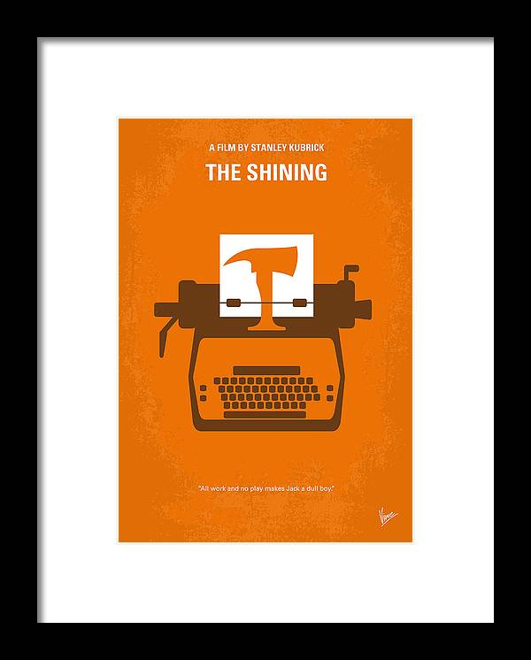 The Framed Print featuring the digital art No094 My The Shining minimal movie poster by Chungkong Art