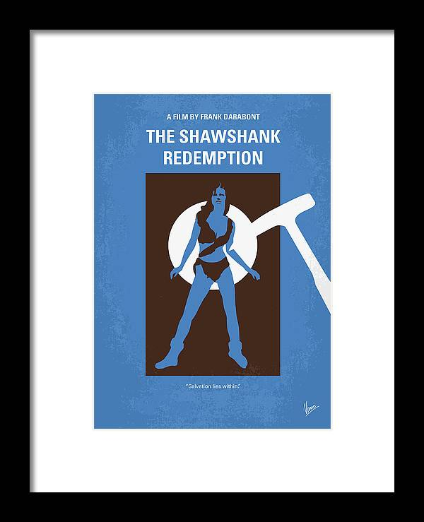 Shawshank Framed Print featuring the digital art No246 My The Shawshank Redemption Minimal Movie Poster by Chungkong Art
