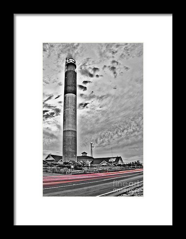 Sea Scape Framed Print featuring the photograph Oak Island Lighthouse by Jh Photos