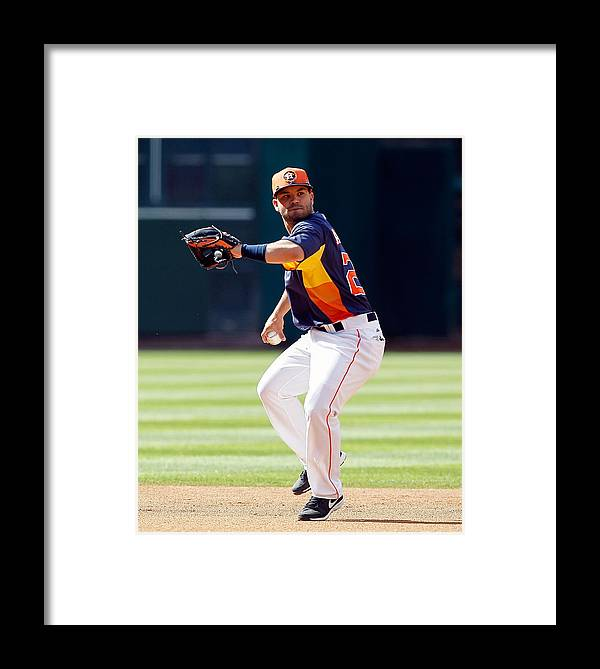 American League Baseball Framed Print featuring the photograph Oakland Athletics V Houston Astros by Bob Levey