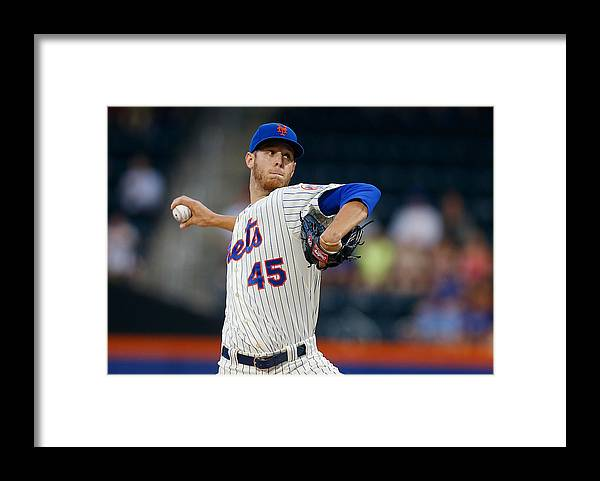 American League Baseball Framed Print featuring the photograph Oakland Athletics V New York Mets by Mike Stobe