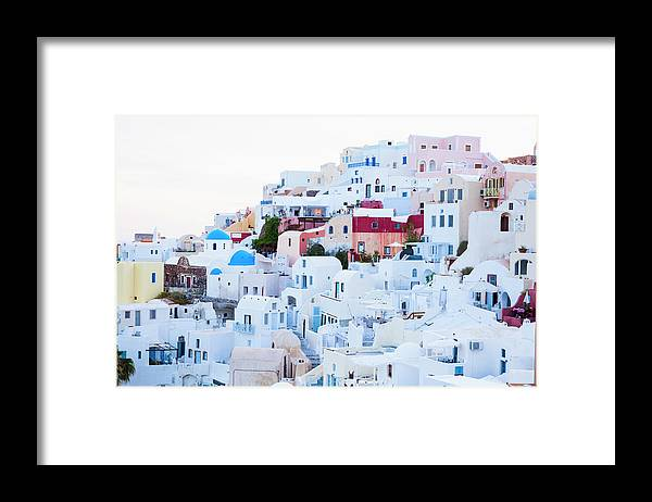 Tranquility Framed Print featuring the photograph Oia by Jorg Greuel
