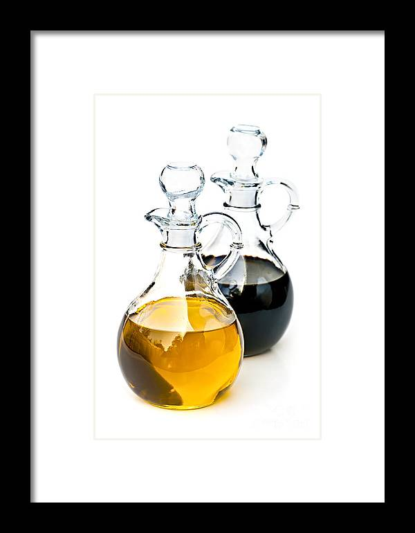 Oil Framed Print featuring the photograph Oil And Vinegar by Elena Elisseeva
