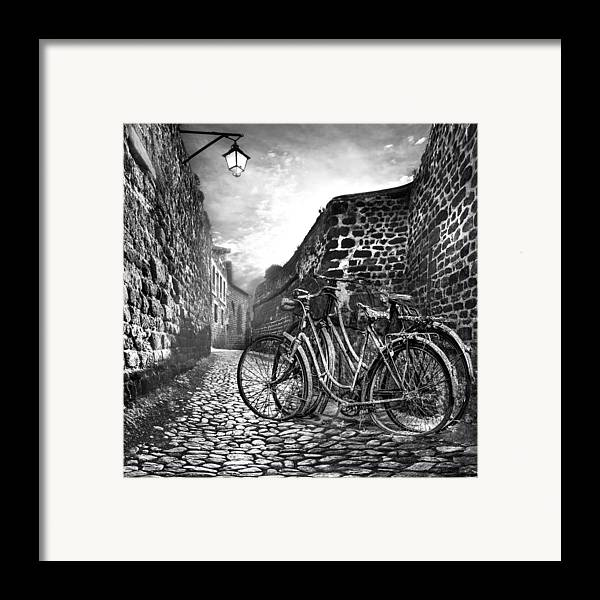 Appalachia Framed Print featuring the photograph Old Bicycles On A Sunday Morning by Debra and Dave Vanderlaan
