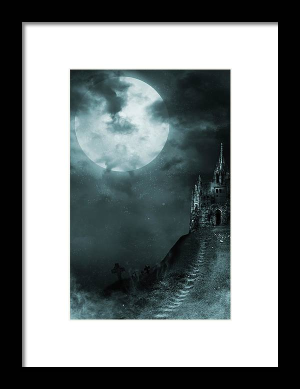 Gothic Style Framed Print featuring the photograph Old Castle by Vladgans