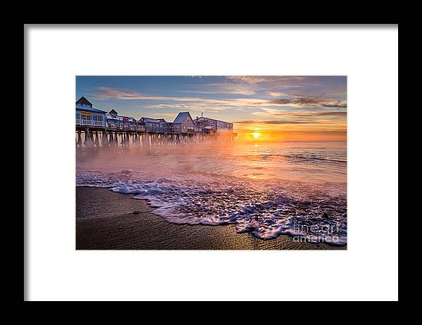 Arctic Sea Smoke Framed Print featuring the photograph Old Orchard Beach Sea Smoke by Benjamin Williamson