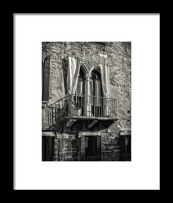 Tuscany Framed Print featuring the photograph Old World Window by Dobromir Dobrinov