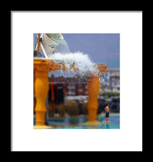 Waterpark Framed Print featuring the photograph Onward Came The Flood by William Walker