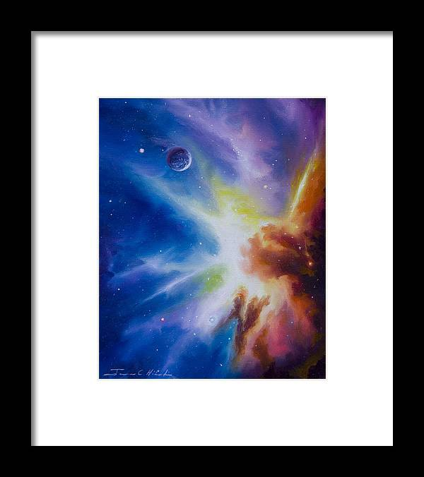 James Christopher Hill Framed Print featuring the painting Origin Nebula by James Christopher Hill
