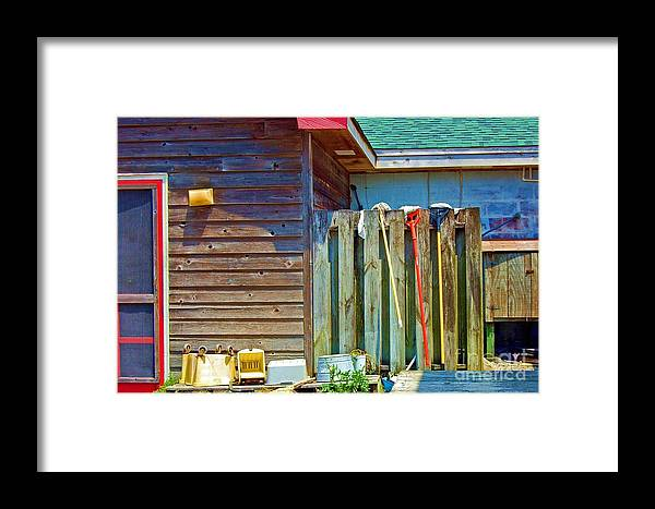 Building Framed Print featuring the photograph Out To Dry by Debbi Granruth