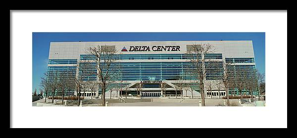Photography Framed Print featuring the photograph Panoramic Of Delta Center Building by Panoramic Images
