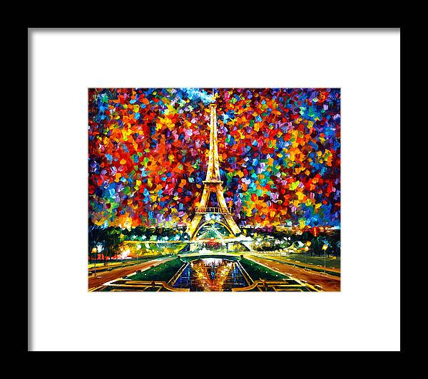 Paris Framed Print featuring the painting Paris Of My Dreams by Leonid Afremov