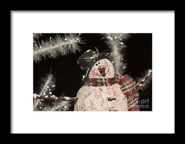 Snowman Framed Print featuring the photograph Partyin' Snowman by John Hoffman