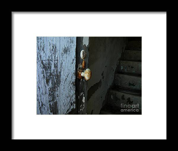 Door Knob Framed Print featuring the photograph Past Age Passage by Lin Haring