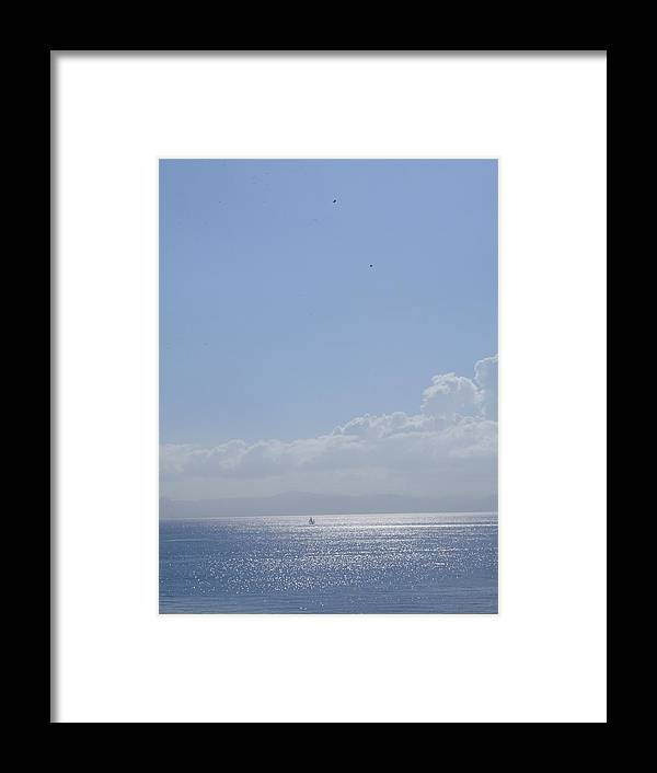 Sea Framed Print featuring the photograph Peaceful Sea At Tarifa by Carol C