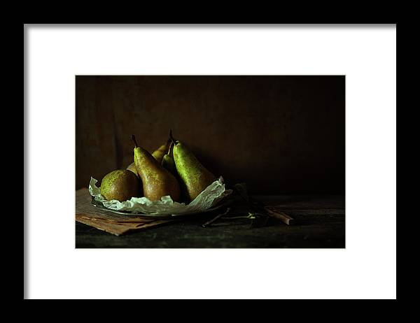 Healthy Eating Framed Print featuring the photograph Pears by Feryersan