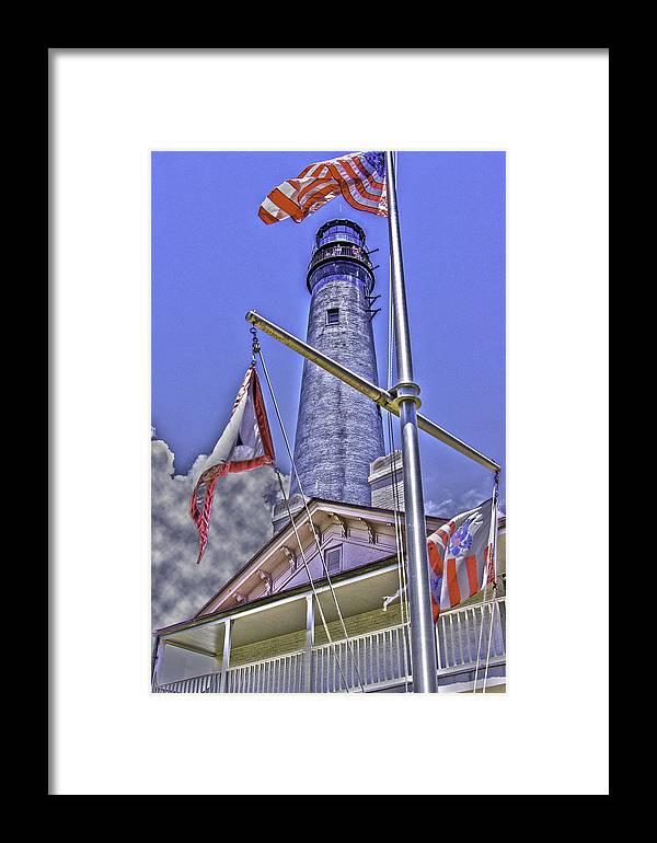 Barrancas Framed Print featuring the photograph Pensacola Lighthouse by Richard P Davis