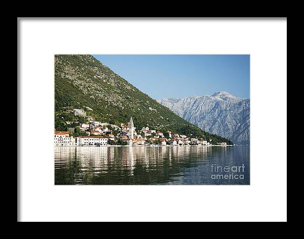 Adriatic Framed Print featuring the photograph Perast In Kotor Bay Montenegro by Jacek Malipan