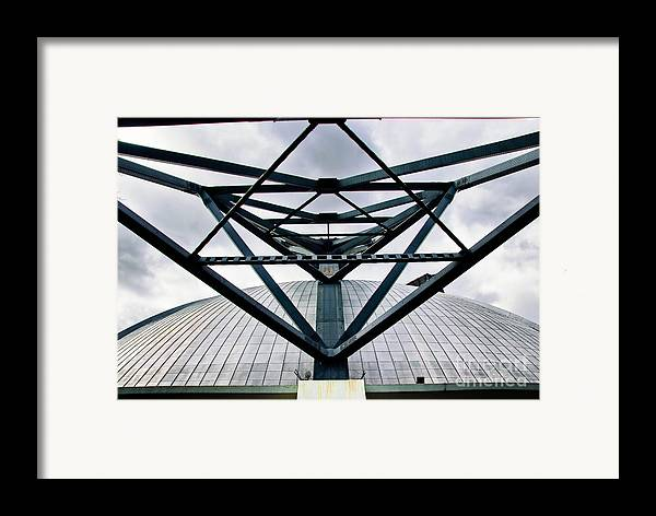 Architecture Framed Print featuring the photograph Perspectives Mellon Arena by Amy Cicconi