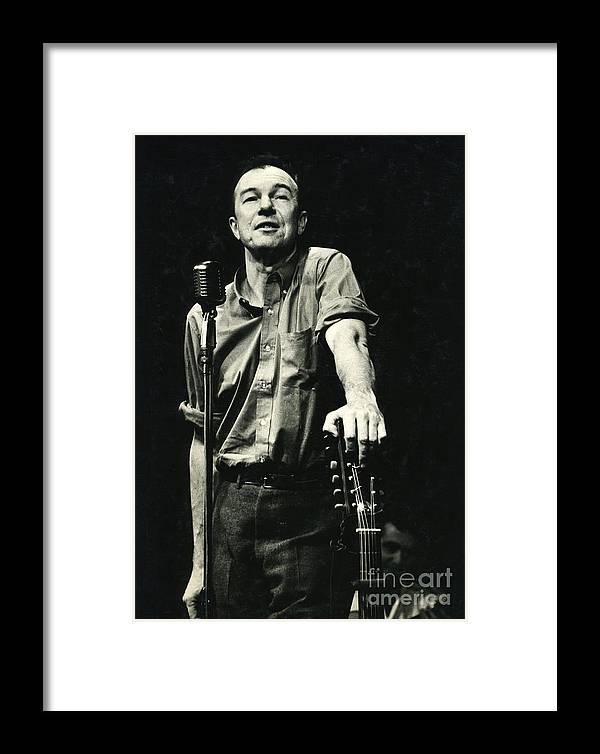 Pete Framed Print featuring the photograph Pete Seeger by Erik Falkensteen