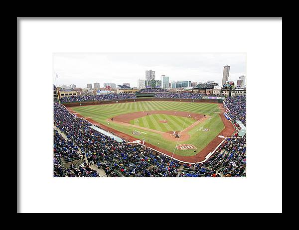 National League Baseball Framed Print featuring the photograph Philadelphia Phillies V Chicago Cubs by Ron Vesely